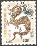 Stamps Benin -  Año lunar chino