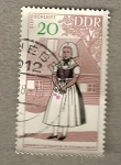 Stamps Germany -  Chica con lazo