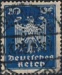 Sellos del Mundo : Europa : Alemania :  NUEVA ÁGUILA HERÁLDICA 1924-25. FILIGRANA B. Y&T Nº 351. RESERVADO