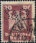 Sellos del Mundo : Europa : Alemania :  NUEVA ÁGUILA HERÁLDICA 1924-25. FILIGRANA B. Y&T Nº 352. RESERVADA