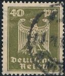 Sellos del Mundo : Europa : Alemania :  NUEVA ÁGUILA HERÁLDICA 1924-25. FILIGRANA B. Y&T Nº 353. RESERVADA