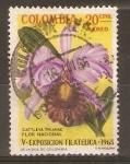 Sellos de America - Colombia -  CATTLEYA  TRIANAE.  FLOR  NACIONAL
