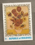 Stamps Asia - Maldives -  Van Gogh