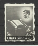 Stamps United Arab Emirates -  Kennedy