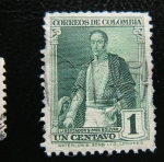 Stamps : America : Colombia :  Simon Bolivar