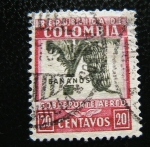 Stamps : America : Colombia :  Bananos