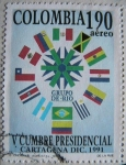 Stamps : America : Colombia :  V Cumbre Presidencial