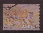 Stamps Malaysia -  Tigre