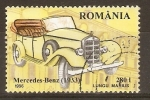 Stamps Romania -  MERCEDES  BENZ  (1933)