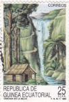 Stamps Equatorial Guinea -  CASCADA EN LA SELVA