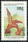 Stamps Chile -  PICAFLOR DE ISLA JUAN FERNANDEZ - FLORA Y FAUNA DE CHILE