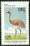 Stamps Chile -  ÑANDU - FLORA Y FAUNA ISLA JUAN FERNANDEZ