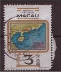 Sellos del Mundo : Asia : Macao : mapa