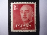 Stamps Spain -  General: Francisco Franco Bahamonte (1892-1975)