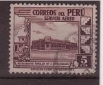 Stamps Peru -  restaurante popular