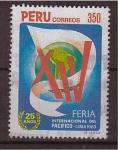 Stamps Peru -  feria intern.