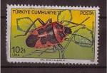 Sellos de Asia - Turquía -  serie- insectos