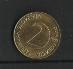 monedas de Europa - Eslovenia -  Golondrina./ reverso.