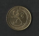 monedas de Europa - Finlandia -  Leon Rampante./ anverso.