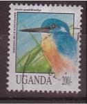 Sellos de Africa - Uganda -  martin pescador