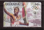 Stamps Uganda -  medallista