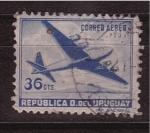 Sellos de America - Uruguay -  Correo aéreo