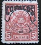 Stamps Chile -  Telegrafos del Estado- sobrecargado