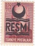 Sellos de Asia - Turquía -  MUSTAFA ISMET INONU