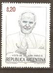 Stamps Argentina -  VISITA  DE  S.S.  JUAN  PABLO  II