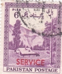 Sellos de Asia - Pakistán -  Paisaje- SERVICE