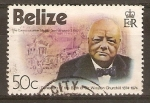 Sellos de America - Belice -  W.  CHURCHILL  Y  COCHE  DE  LA  REINA  ELIZABETH  II