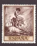 Stamps Spain -  idilio- fortuny-día del sello