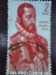 Sellos de Europa - España -  Ed:1454- Forjadores de América-Alonso de Mendoza (Fundador de la Ciudad de la Paz)