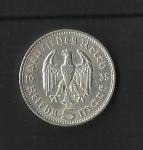monedas del Mundo : Europa : Alemania :  Hindenburg / Third Reich / reverso.