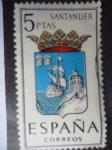 Sellos de Europa - España -  Ed:1636- Escudos de Capitales de Provincias Españolas. Santander