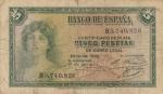 monedas del Mundo : Europa : España :  Alegoría-Certificado de plata E/1935