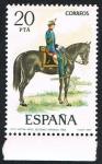 Stamps Spain -  CAPITAN ARTILL. SECCIONES MONTADAS -1862