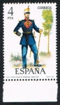 Stamps Spain -  TAMBOR MAYOR DE INFANTERIA (LINEA) -1861