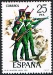 Sellos de Europa - España -  INFANTERIA LIGERA -1830