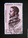 Stamps : America : Chile :  Alonso de Ercilla