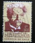 Stamps : America : Chile :  Centenario del nacimiento de Albert  Schweitzer