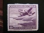 Stamps : America : Chile :  Linea Aerea Nacional