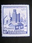 Stamps : America : Chile :  II censo de la vivienda