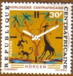 Stamps Africa - Central African Republic -  RELOJ