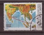 Sellos de Asia - India -  cable submarino