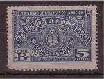 Stamps Argentina -  caja nacional de ahorro postal