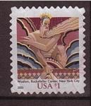 Stamps United States -  rockefeller center