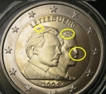 Moneda : Europa : Luxemburgo : Luxemburgo 2006- 2€ Conmemorativo-Error