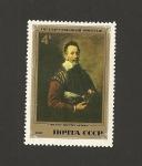 Sellos de Europa - Rusia -  Retrato de un actor por Domenico Fetti