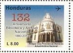 Sellos de America - Honduras -  ANIVERSARIO  BIBLIOTECA  Y  ARCHIVO  NACIONAL  -  ANTIGUA  CASA  PRESIDENCIAL